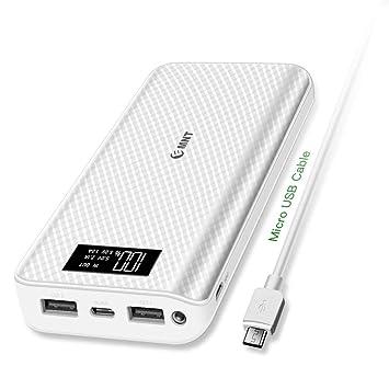 Power Bank, 24000 mAh Emnt Quick Charge 3.0 Compacto Cargador Portátil USB Tipo C Puerto Batería Externa Pack para Smartphones, iPad, Samsung, ...