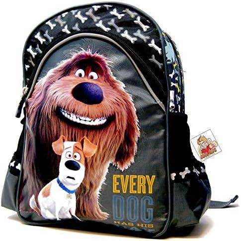 The Secret Life of Pets - Motiv: Duke & Max - Every Dog Has his Day - Kindergarten-Rucksack/Kindergartentasche - für die Brotdose/Trinkflasche - Vorschul-Rucksack