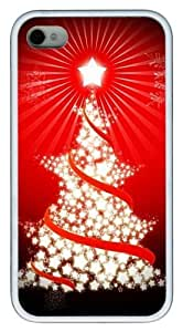 Cool Star Tree TPU White Case for iphone 4S/4