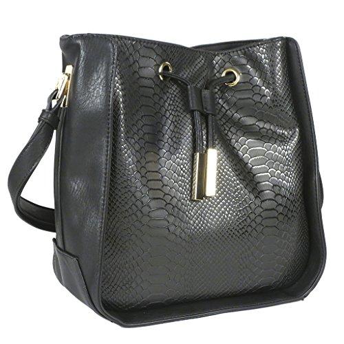 Melie Bianco Alexandra Tote Shopper Handbag Black ()