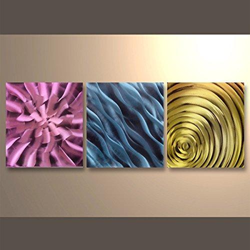 【現代アート工房】 メタルアート 現代絵画 立体感のあるモダンアート ハンドメイド作品 抽象画ライン 2FMA-431 60×60cm-3 B01MT9NAAM 抽象画431 抽象画431