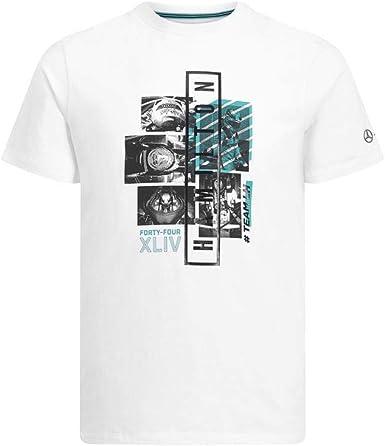 Mercedes-AMG Petronas Motorsport F1 Lewis Hamilton Graphic - Camiseta de manga corta, color blanco, S, Blanco: Amazon.es: Ropa y accesorios