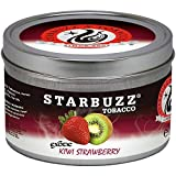 Kiwi Strawberry 100g grams Starbuzz Tin Can Free S and L Male and Female Hookah Tips Sold By S and L Star Buzz