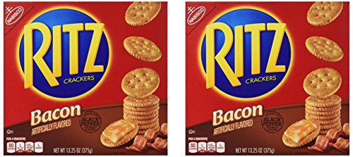 Nabisco Ritz Crackers Bacon Flavored 2 Pack (13.25 Oz Each) Flavored Crackers