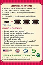 6X Ubiquinol Coq10 100mg Kaneka QH, VESIsorb, Patented 6X Higher Absorption, 100% Liquid Soluble, So You Don\'t Waste Money, 60 Softgels