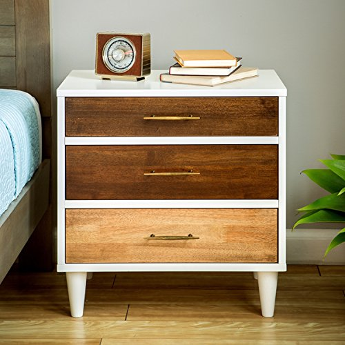 Christian 3-drawer Nightstand (22.8''wide x 15.7'' deep x 23.6'' high) by I Love Living