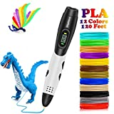 3D Pen with with Filament, DigiHero 3D Printing Pen with 1.75mm PLA Filament Pack of...