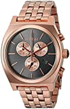 Nixon Men's 'Time Teller Chrono' Quartz Stainless Steel Casual Watch, Color:Rose Gold-Toned (Model: A9722046-00)