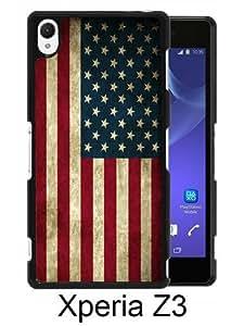 American Flag 6 Black Fashion Design Customized Picture Sony Xperia Z3 Case