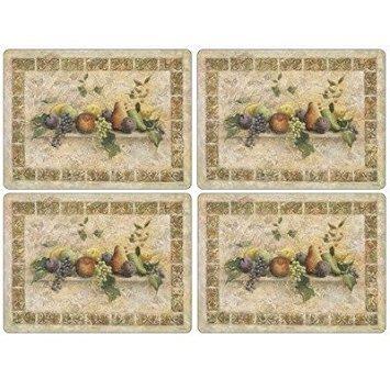 Pimpernel Tuscan Palette Placemats - Set of 4 (Large) by Pimpernel