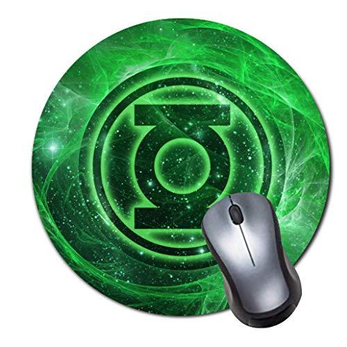 - Round Gaming Mouse Pad Creative Custom Non Slip Rubber Mousepad Mat-Green Lantern
