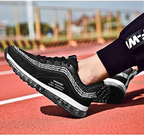 ニット スポーツシューズ メンズ ウォーキングシューズ エアクッション 厚底 ローカット スニーカー レースアップ ラウンドトゥ ニットスニーカー 通気性 歩きやすい 滑り止め 軽量 衝撃吸収 厚底靴 運動靴