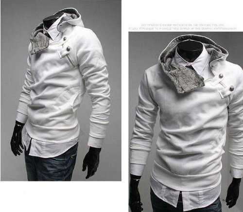 New Men Casual Fashion Zipper Slim Fit Sexy Top Designed Hoodies Jackets Coats