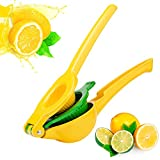 Kaitsy Lemon Squeezer - New Aluminum Alloy Citrus Squeezer 2-in-1 Lemon Juicer / Lime Squeezer