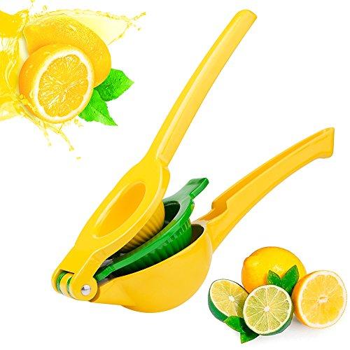 Lemon Squeezer - New Lemon Juicer / Citrus Squeezer 2-in-1 Premium Quality Aluminum Alloy Citrus Juicer, Manual Lemon Lime Squeezer by Kaitsy