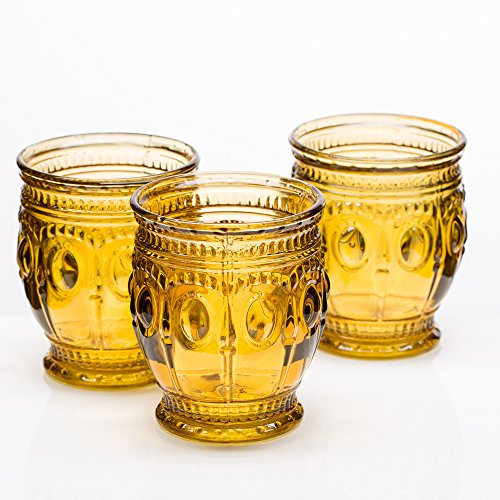 (Richland Vintage Charm Candle Holder Amber Set of 6)