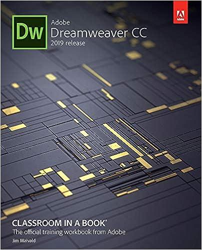 Amazon com: Adobe Dreamweaver CC Classroom in a Book (2019 Release