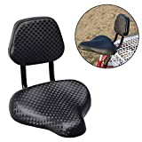 GrmeisLemc Cycling Seat Cushion Wide Comfort Soft Thicken Foam Durable Faux Leather Waterproof Breathable Bike Bicycle Saddle Pad with Backrest Support
