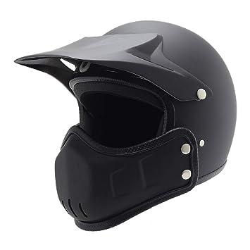 Goney Casco de la Motocicleta, Retro Adulto 3/4 Casco de la Moto de