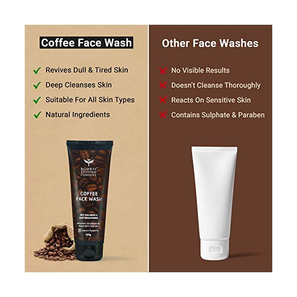 Bombay Shaving Company Coffee Face Wash for Men & Women - Deep-Cleanses, De-Tans & Blackhead Removal   Made in India 2021 July Revives dull & tired skin. Gives your skin a youthful glow. Brightens & hydrates your skin.