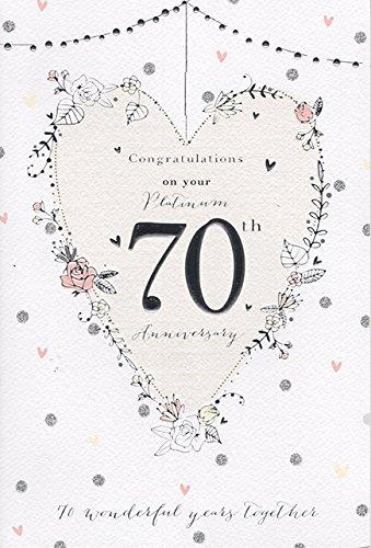 En tu Platinum 70th Tarjeta de felicitación de boda ...