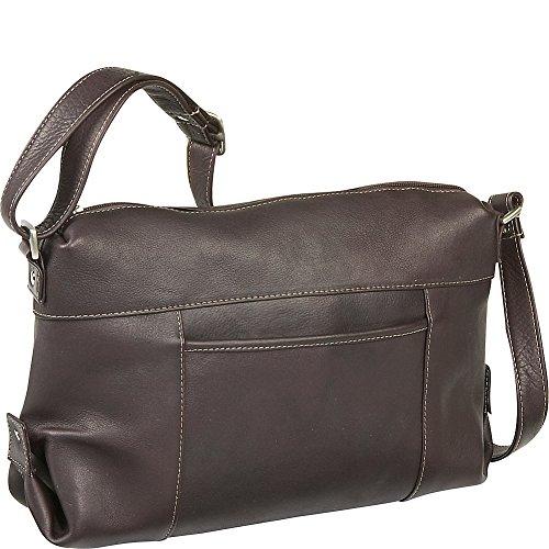 le-donne-leather-top-zip-front-slip-shoulder-bag-caf