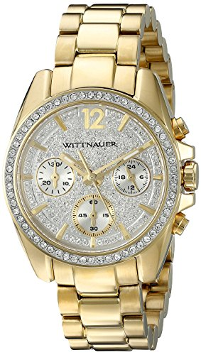 Wittnauer Womens WN4043 16mm Stainless Steel Gold Watch Bracelet (Watch Gold Wrist Wittnauer)