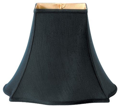 Royal Designs Fancy Square Bell Lamp Shade, Black, 5 x 12 x