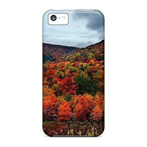 Cute Tpu LastMemory Colorful Trees Case Cover For Iphone 5c