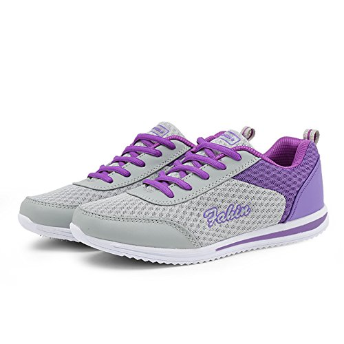 Image of Ponyka Women's Fashion Sneakers Casual Athletic Mesh Breathable Running Sport Shoes
