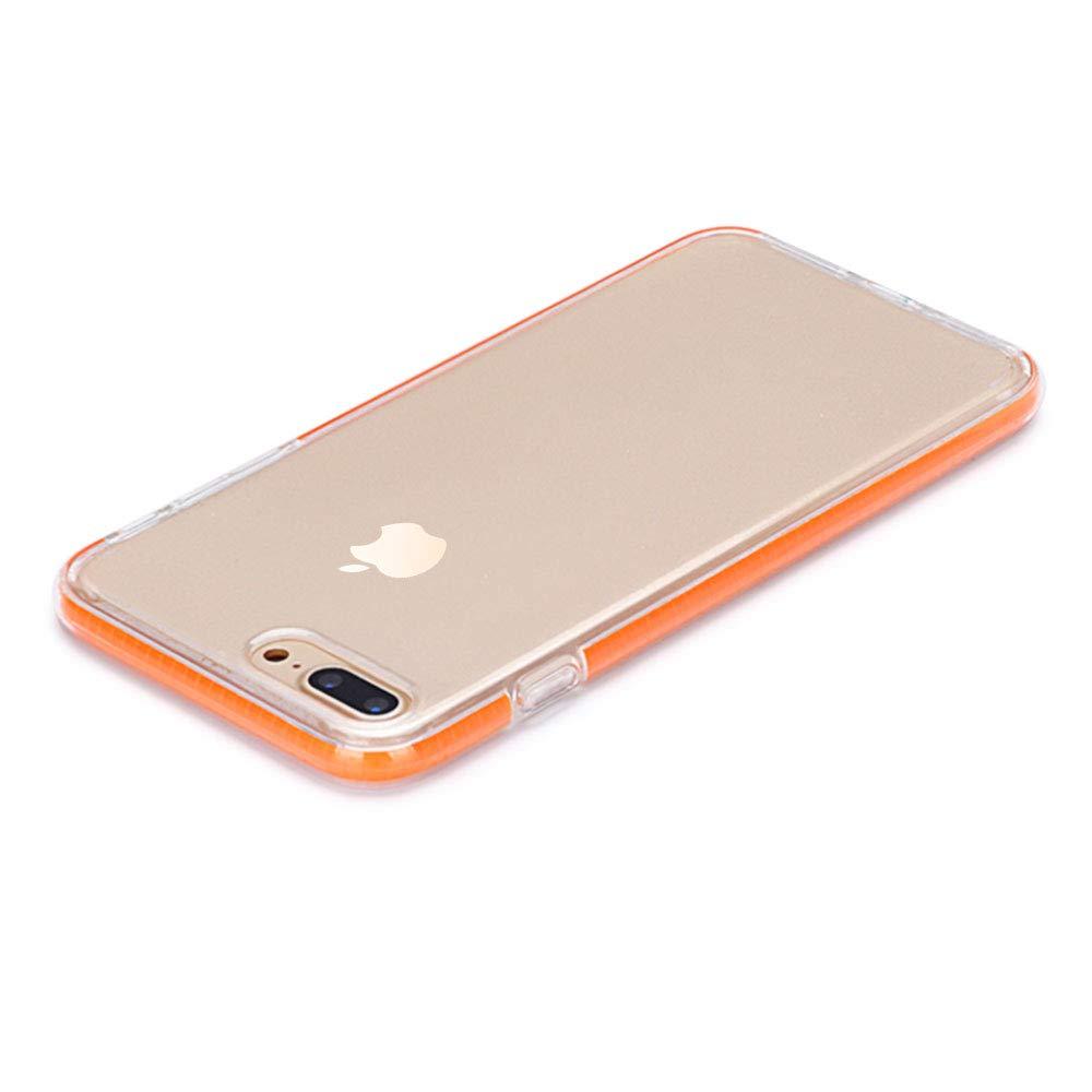 1*Protector de Pantalla de Vidrio Templado Anti-Scratch Caso para iPhone7//8 Plus Anfire Carcasas de Ultra Suave TPU Silicona Transparente Carcasa Funda para iPhone 7 Plus iPhone 8 Plus Rojo