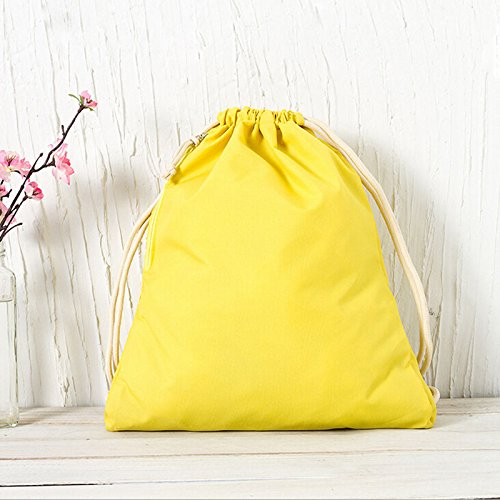 Liangxiangポータブル文字列Drawstringバックパック袋ジムトートバッグwith Zipper Pocket , Multcolor B01MRJL358イエロー
