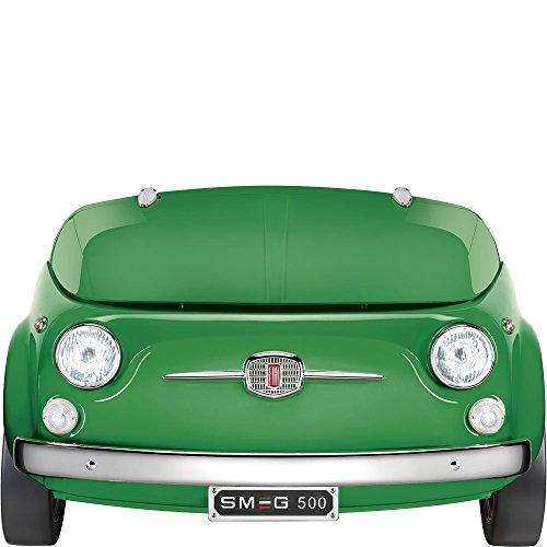 Smeg Fiat 500 Freestanding Compact Refrigerator,Green