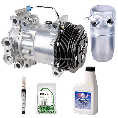 AC Compressor w/A/C Repair Kit For GMC Sierra Yukon Chevy Tahoe Silverado Cheyenne C/K Pickup 1996 1997 1998 1999 2000 - BuyAutoParts 60-80104RK New ()