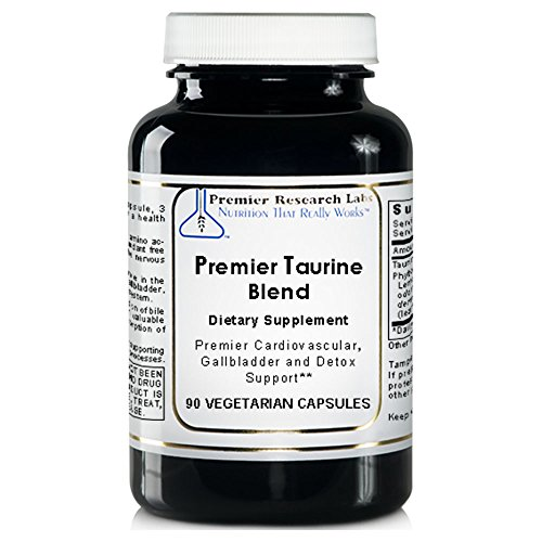 Premier Taurine Blend, 90 Capsules, Vegan Product - Taurine Support Formula for Premier Cardiovascular, Gallbladder and Detoxification Support