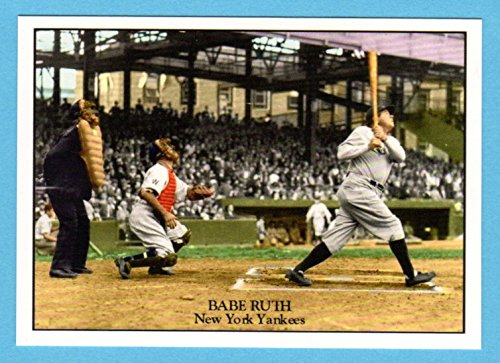 Babe Ruth Classic Batting photo Baseball Card with Lifetime Batting Stats on back of card (New York) (Best Football Photos Of All Time)