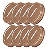 Freebily 8pcs Metal Coin Slot Bank Lid Inserts for Mason Jar Rose One Size