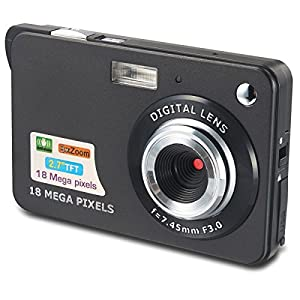 Aberg Best 18 mega pixels HD Digital Camera - Digital video camera - Students cameras - Students Camcorder - Handheld Sized Digital Camcorder Indoor Outdoor for Adult /Seniors / Kids (black)