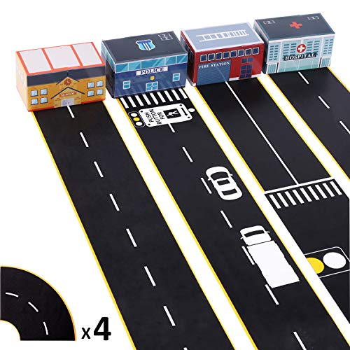 (iPlay, iLearn 4 Rolls Road Tape w/ Design, 3