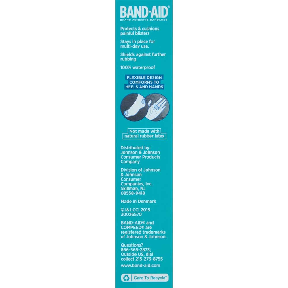 Band-Aid Blister Gel Guard Adhesive Bandages for Heels 6 ct box -- 24 per case.