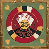 12x12 Poker - $25 by Gorham, Gregory: Gold Bamboo