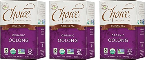 Choice Organic Teas Oolong Tea, 3 Boxes
