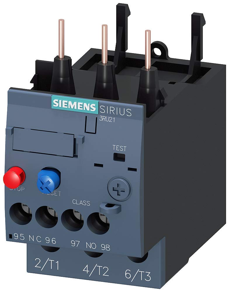 Siemens Sirius 3RU21264CB0 Thermal Overload Relay Manual//Automatic Reset 17 to 22A Range Screw Terminal Trip Class 10 Contactor Mounting Size S0