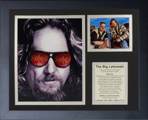 Legends Never Die The Big Lebowski Framed Photo Collage, 11x14-Inch
