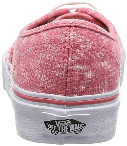 Vans Authentic, Zapatillas de skateboarding Unisex Blanco (Denim Chevron - Coral/True White)