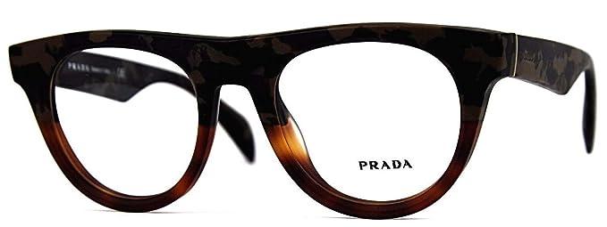 d983fbc53702 Eyeglasses Prada VPR08Q QE11O1 plastic frame Size 52-21-145  Amazon ...