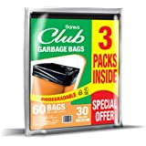 Sanita Club Garbage Bags Biodegradable 30 Gallons, Medium 60x90cm, 60 bags