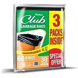Sanita Club Garbage Bags Biodegradable 30 Gallons, Medium 60x90cm, 60 bags