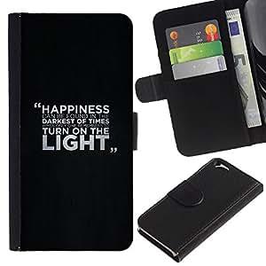 [Neutron-Star] Modelo colorido cuero de la carpeta del tirón del caso cubierta piel Holster Funda protecció Para Apple (4.7 inches!!!) iPhone 6 / 6S [Happiness Message]