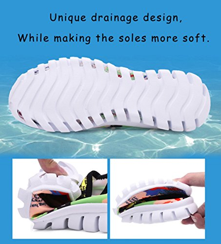 welltree Womens and Men Barefoot Sports Water Shoes Drain Quick Drying For Beach, Swim, Walking, Lake, Garden, Park, Driving, Boating Brown
